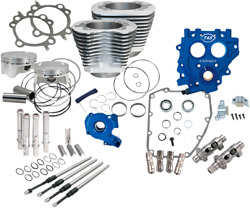 Sands Cycle 585ce Silver Big Bore Cylinder Kit - Power Package Usa Made 330-0662