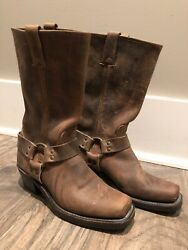 Fry Harness 12r Leather Boots For Women Size 7 1/2 M Color Brown
