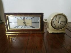 Lot Of 2 Antique Clocks, Sentinel, Seth Thomas, Not Completely Working, Plz Read