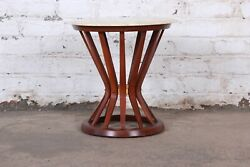 Edward Wormley For Dunbar Sheaf Of Wheat Marble Top Side Table 1950s