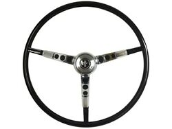 1965-66 Ford Mustang Steering Wheel Kit W/horn Ring And Spring - Black