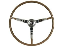 1965-66 Ford Mustang Steering Wheel Kit W/horn Ring And Spring - Palomino