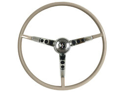 1965-66 Ford Mustang Steering Wheel Kit W/horn Ring And Spring - Parchment