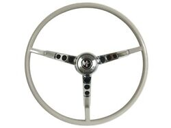 1965-66 Ford Mustang Steering Wheel Kit W/horn Ring And Spring - White