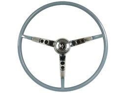 1966 Ford Mustang Steering Wheel Kit W/horn Ring And Spring - Blue