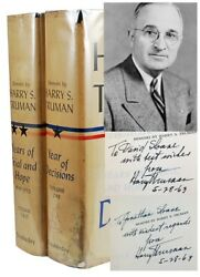 Memoirs Harry S. Truman Signed First Collectors Edition Dual-signed Two Vol Set