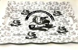 Italian Big Designed Black And White Motorcycle Melamine Tray With Handles