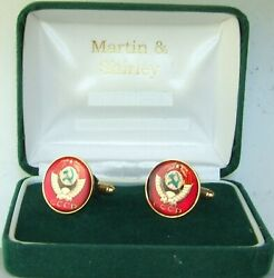 Russia Cufflinks Made From Cccp Russian Coins In Red And Gold And Colours 19mm