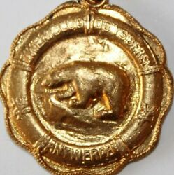 Old Solid Bronze Art Medal The Ice Bear 1964