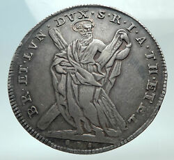 1742 Germany German Brunswick Luneberg George Ii Of Uk Silver Thaler Coin I82268