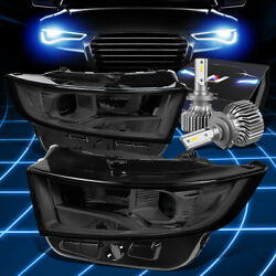 Fit 2015-2018 Ford Edge Oe Replacement Headlight Lamps W/led Slim Style Smoked