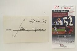 James Mason Signed Autographed 3x5 Card Jsa Certified A Star Is Born