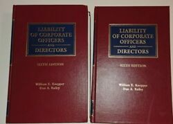Liability Of Corporate Officers And Directors 6th Edition Volume 1 And 2 + Supplem