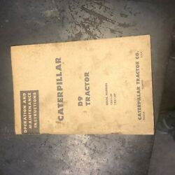 Cat Caterpillar D9 Dozer Tractor Operation Maintenance Manual Used 18a 19a