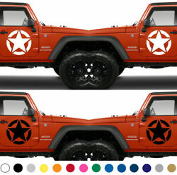 Set Of 2 Us Army Star Decal Door Vinyl Sticker American Armed Forces Military V6