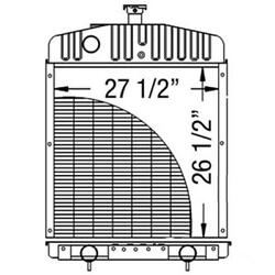 A184365 New Radiator Made Fits Case Ih Tractor 2390 2394 2590 2594 3294 3394 359