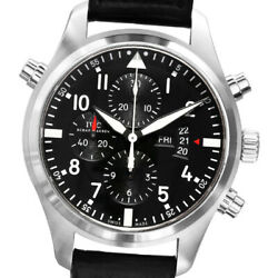 Pilotand039s Watch Double Chronograph Automatic Stainless Steel [h0126]