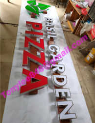 Customs Illuminated Letters, Halo Lit,frontlit Sign With Led,pizza 18in,
