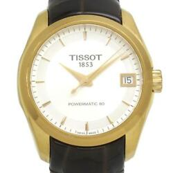 Tissot Couturier Powermatic Ledie's Watch Black Gold White Used