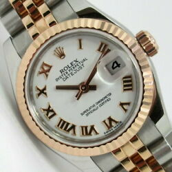 ROLEX 179171 Random numbered Datejust watch SS  K18PG Ladies [i0127] From Japan