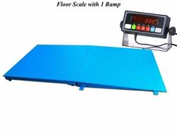 New Floor Scale 72 X 48 6and039 X 4and039 With A Ramp 5000 Lbs X 1 Lb   Medal Ind.