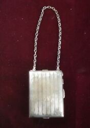 Antique Sterling Silver Coin Purse / Money Clip / Compact / Note Pad 172 G