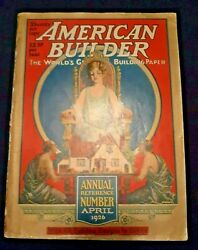 Exc. 1926 American Builder Annual - Huge Art And Crafts Catalog W/ 48 Color Plans