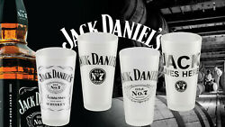 Jack Daniels Pint Glass Set - Lives Here - Frosted - Mixing - Swing - Old No. 7