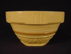 Rare Small Scalloped Brown And White Band 5 Inch Bowl 1 Yellow Ware