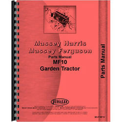 Fits Massey Ferguson 10 Lawn And Garden Tractor Parts Manual