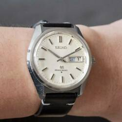 Seiko Grand Seiko 6146-8000 Vintage Overhaul Day Date Ss Automatic Mens Watch