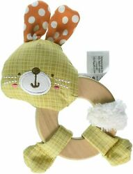 Bright Starts Simply Bright Starts Clutch amp; Hold Wood Rattle Toy Bunny $13.75