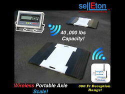 Selleton Wireless Portable Weigh Pads For Truck Car Axle Scale 40000 Capacity