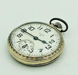 Elgin 10k Mechanical Antique Pocket Watch 16 Size 7 Stone Color Gold Very Rare