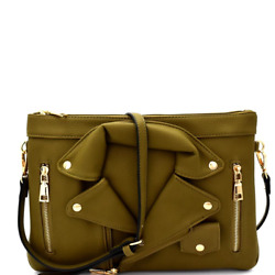 Motorcycle Jacket Style Clutch $15.00