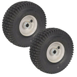 Two 2 Pack Front Assembly Mower Wheels Fits Snapper 7052268 7052267 7050618