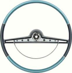 1963 Chevrolet Impala Ss And Standard Steering Wheel W/horn Ring - Two Tone Blue