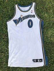Gilbert Arenas Washington Wizards Nba Game Issue Home Adidas Jersey 0 No Patch