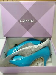 XAPPEAL Womens Designer Dress Shoes Bright Blue Size 7.5 Store Return 50% OFF