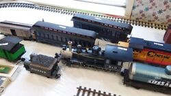 Lots Of Over--sized Trains Engine And Track