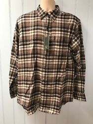 NWT $50 G.H  Bass Co. Long Sleeve Men's Casual Plaid Flannel Shirt Size M