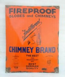 Porcelain Enamel Fireproof Globs And Chimneys, Lamps And Lanterns Sign Board Germany