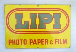Lipi Photo Paper And Film Advertisement Collectible Porcelain Enamel Sign Board