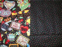 Vintage Fabric Mary Engelbreit Bloom Where Your Planted 1 YD + 33
