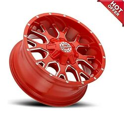 4ea 20x9 Scorpion Wheels Sc-19 Neon Red Milled Off Road S4
