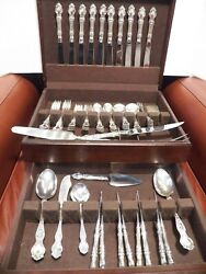 Wallace Violet Sterling Silver Flatware Set For 8 No Monograms W/ 8 Servers