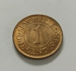 Seychelles 1 Cent 1948. Km5. One Penny Coin. Only 1 Year Issue. 300.000. Rare.