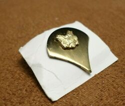 Authentic Us Army Specialist E-4 Collar Insignia Gold Tone Brass Pinback 12