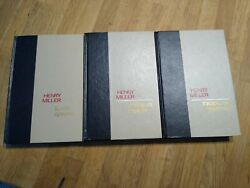 Three Henry Miller Books- All Signed- 1st American Editions- 1st Printing.