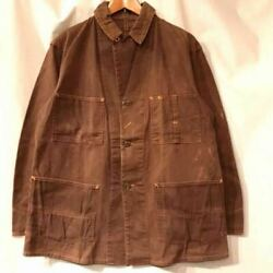 Vintage 1940's SWEET-ORR Brown Duck Coverall Jacket Long Sleeve Rare